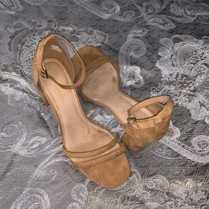 Old Navy thin strap comfy heels sandals